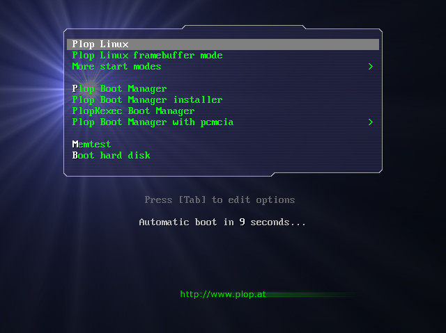 Plop Linux - Live Version